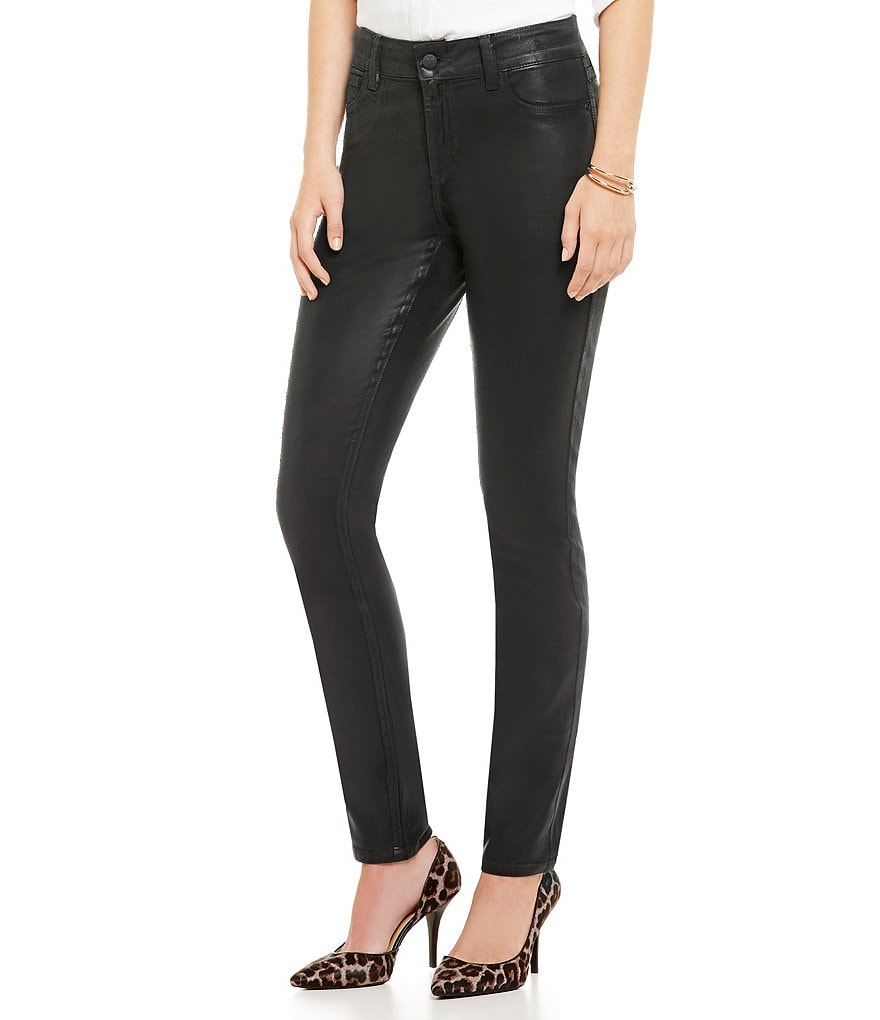 NYDJ Alina Faux-Leather Coating 5-Pocket Legging