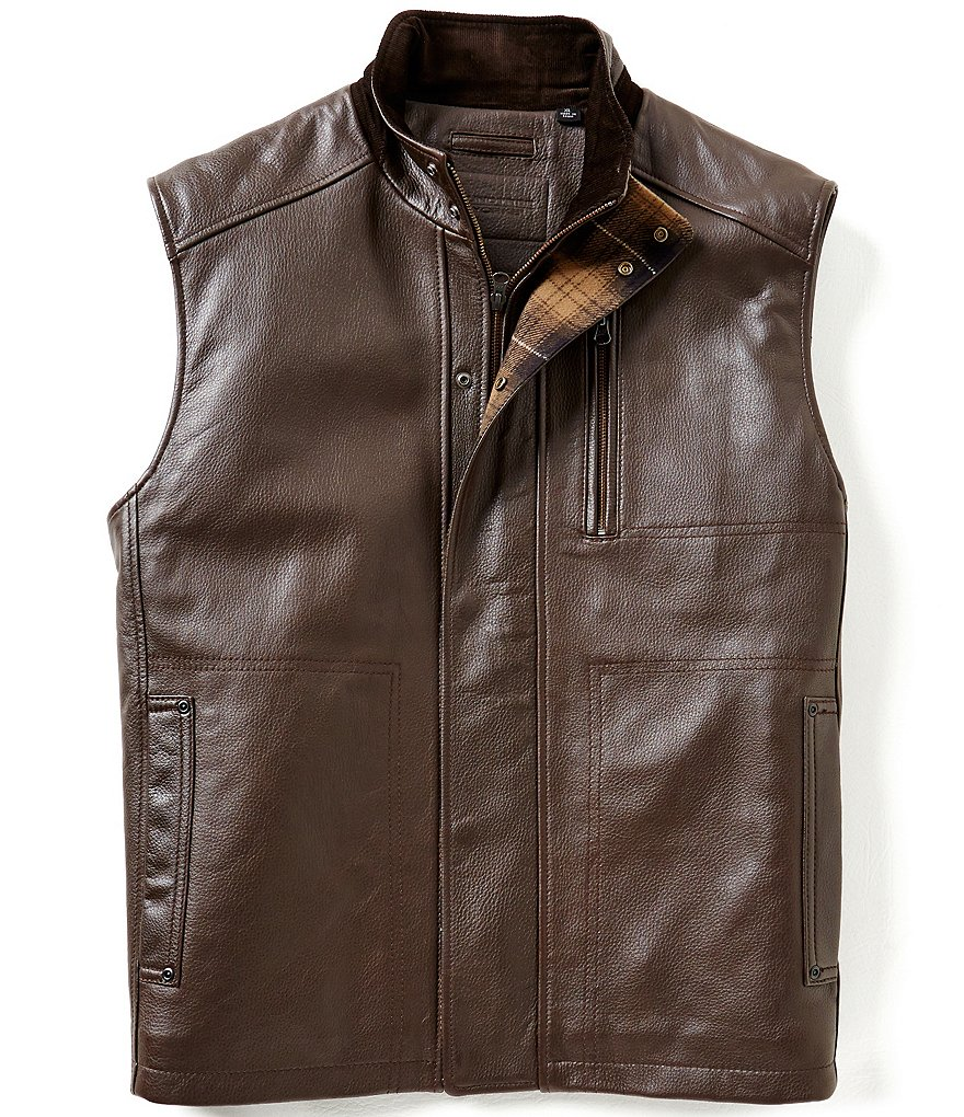 Roundtree & Yorke Lambskin Leather Vest