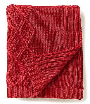 Noble Excellence Sullivan Ogee Vintage Cotton Throw