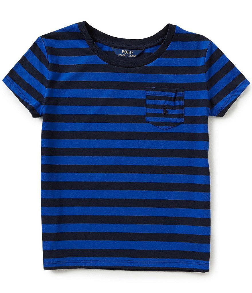 Ralph Lauren Childrenswear Big Girls 7-16 Mixed-Stripe Tee
