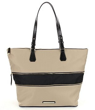 Brahmin Bayview Nylon Collection Casey Expandable Color Block Tote