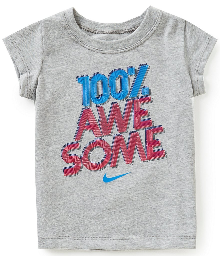 Nike Baby Girls 12-24 Months 100 Percent Awesome Short-Sleeve Tee