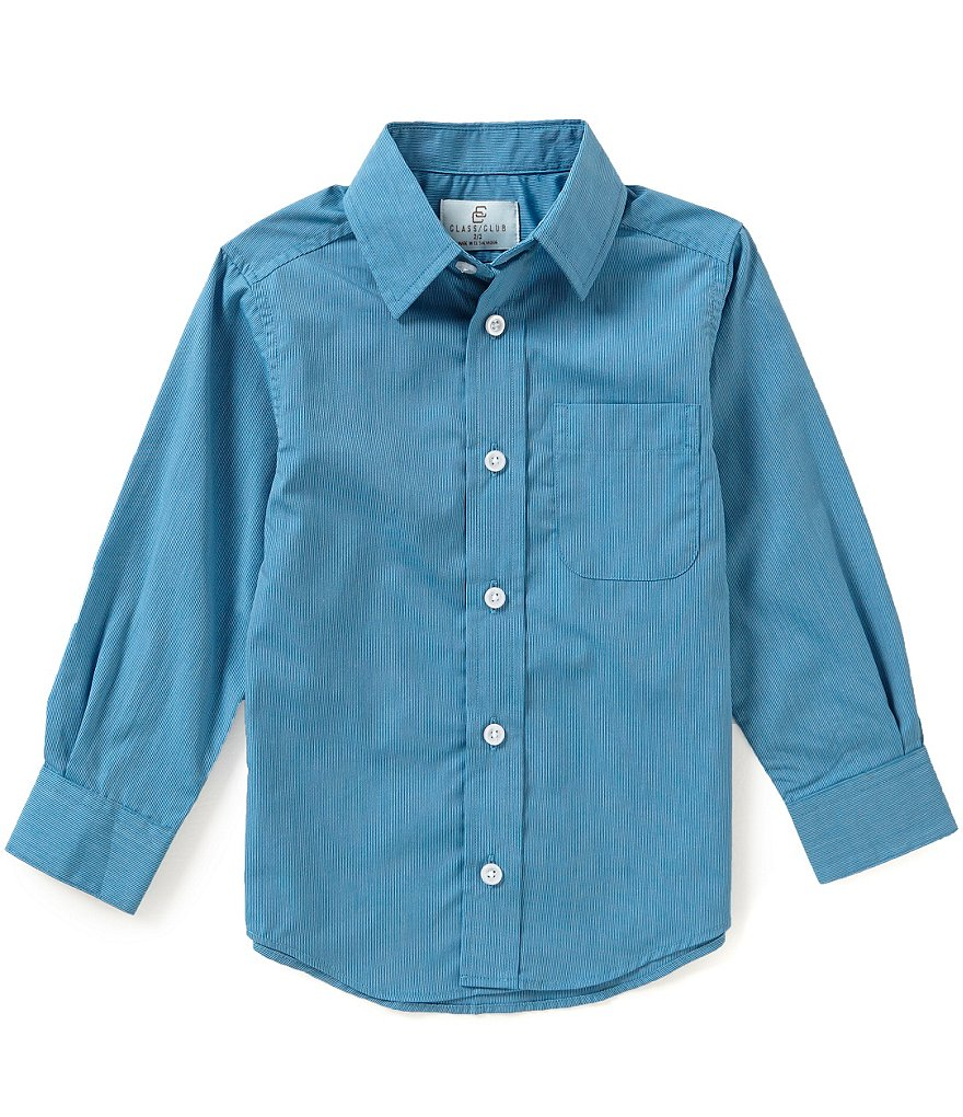 Class Club Little Boys 2T-7 Micro-Striped Shirt