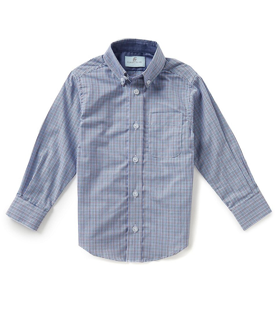 Class Club Little Boys 2T-7 Plaid Shirt
