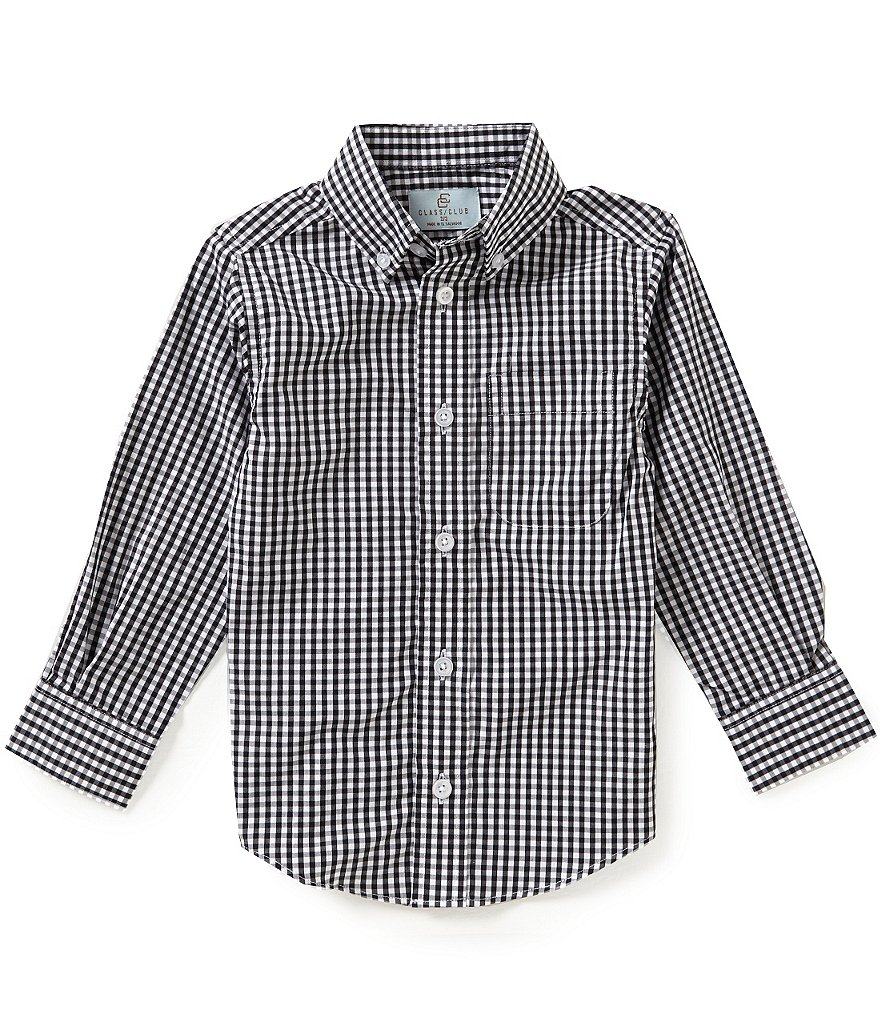 Class Club Little Boys 2T-7 Gingham Shirt