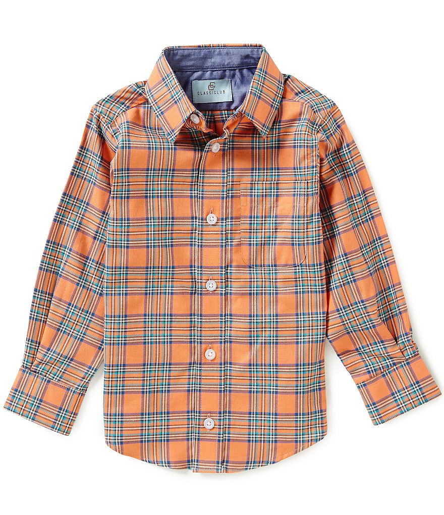 Class Club Little Boys 2T-7 Oxford Plaid Shirt