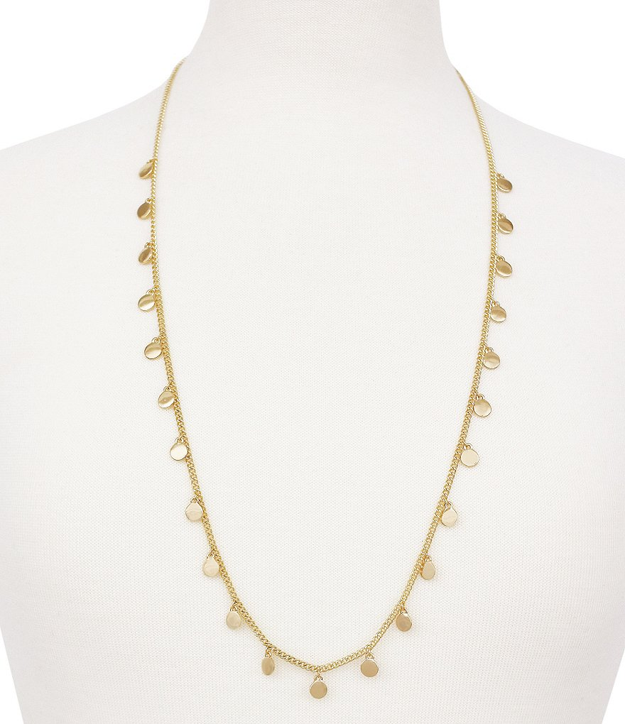 Bcbgeneration Long Coin Station Necklace