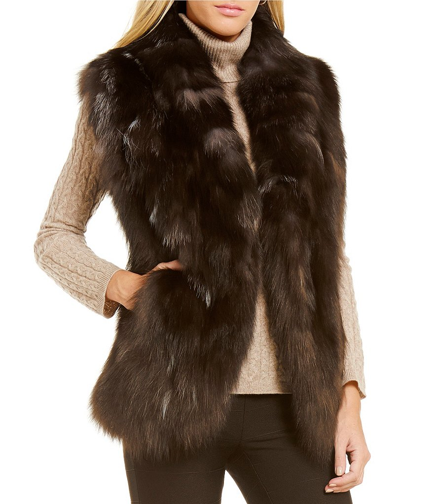 Katherine Kelly Frank Fox Fur Vest