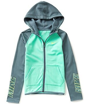 Nike Big Girls 7-16 Full Zip Therma Hoodie