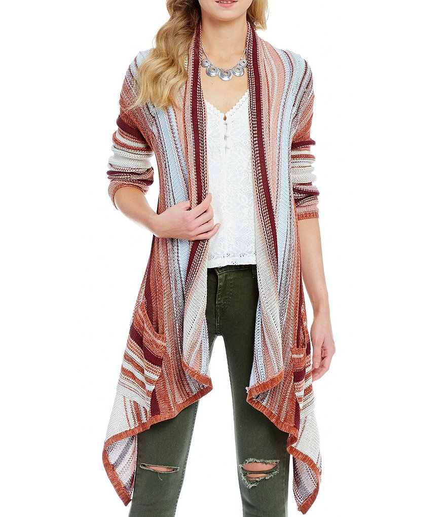 Billabong Beach Ramblin Striped Cardigan