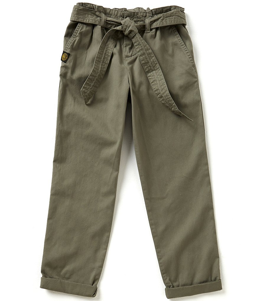 Ralph Lauren Childrenswear Big Girls 7-16 Belted Lightweight Chino Pants