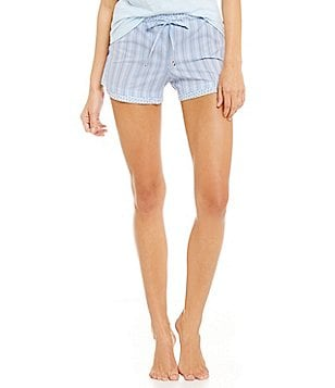 Jane & Bleecker Vintage Striped & Floral Sleep Shorts