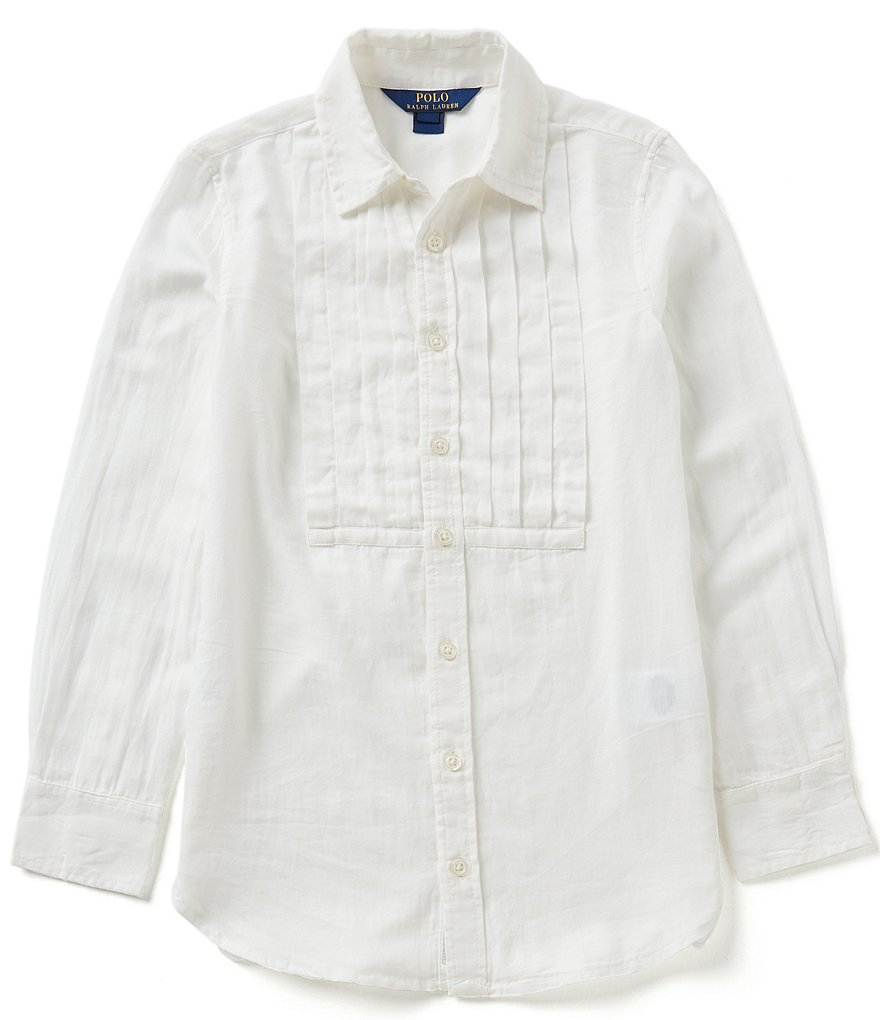 Ralph Lauren Childrenswear Big Girls 7-16 Menswear-Inspired Featherweight Twill Tunic