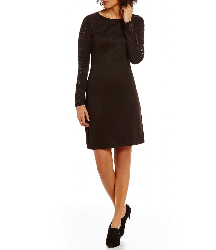 Calvin Klein Studded Sleeve Sweater Dress