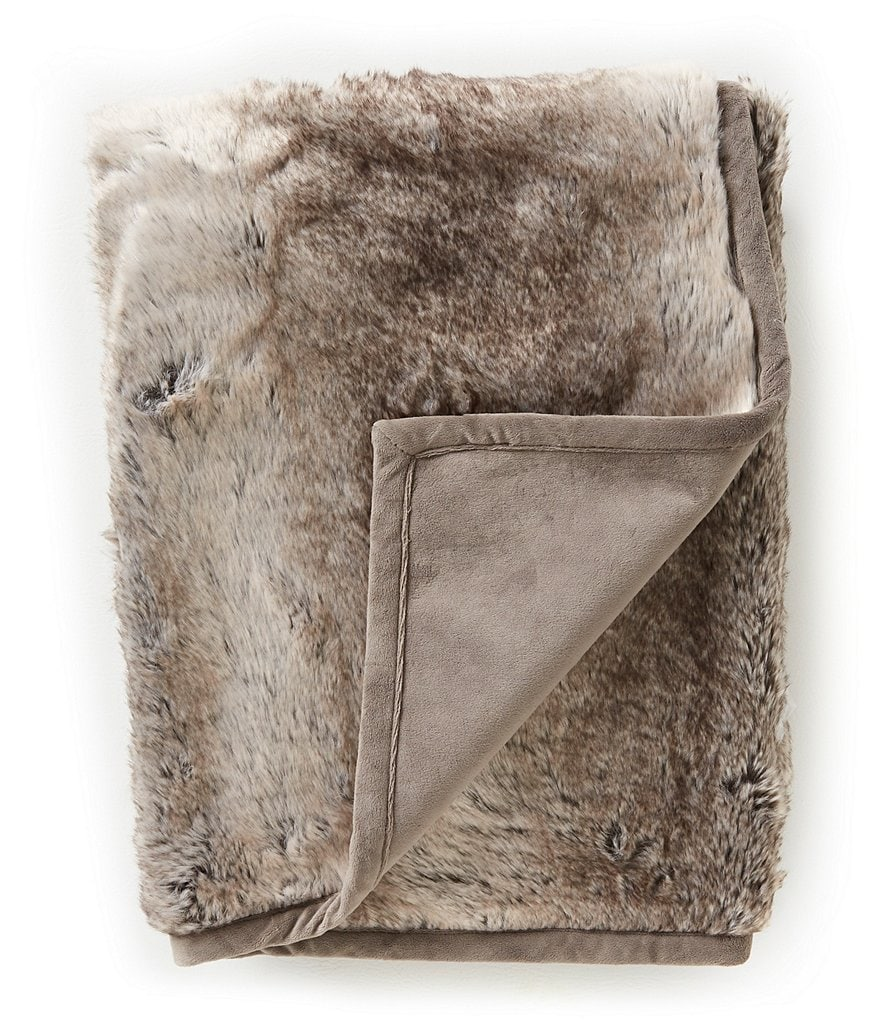 Noble Excellence Coventry Striped Faux-Fur Throw