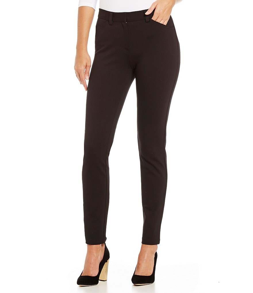 Calvin Klein Compression Knit Tapered Straight-Leg Pants