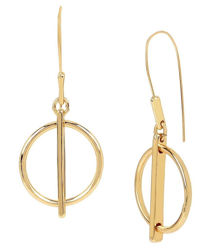 Kenneth Cole New York Geometric Circle Drop Earrings