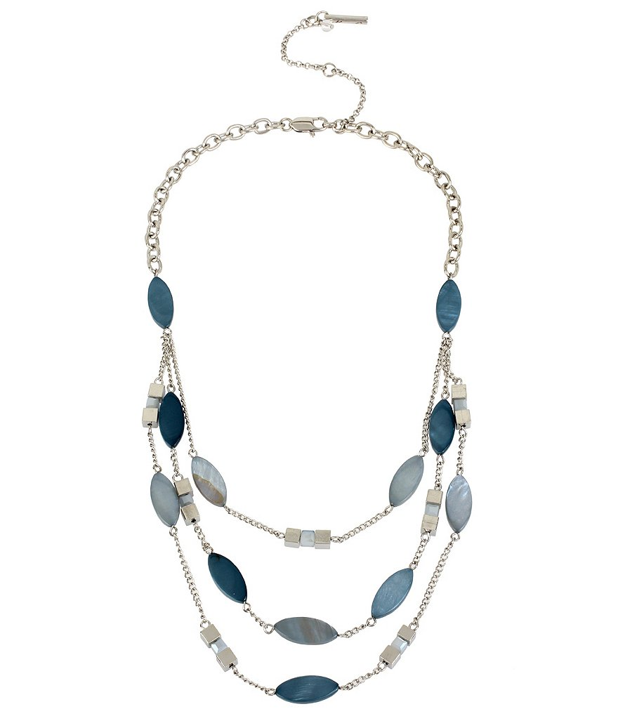 Kenneth Cole New York Shell Stone Illusion Necklace