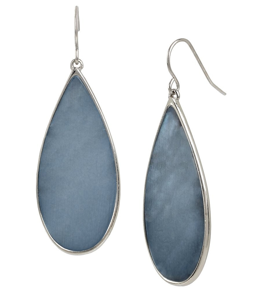 Kenneth Cole New York Shell Stone Teardrop Earrings