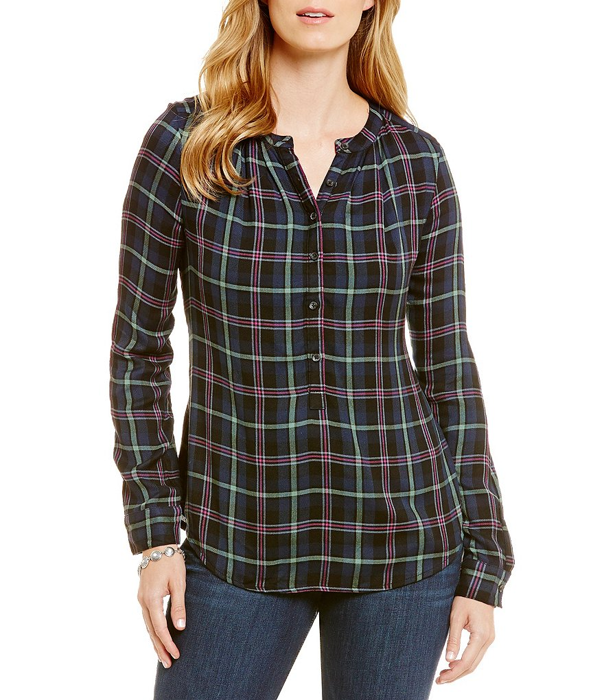 Lucky Brand Gilfriend Plaid Long-Sleeve Shirt
