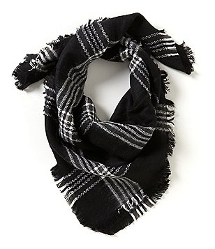 GB Girls Plaid Blanket Scarf