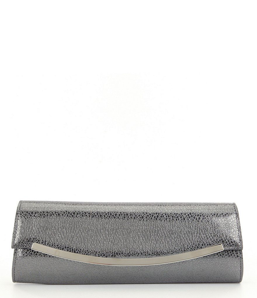 Kate Landry Metallic Faux-Leather Clutch