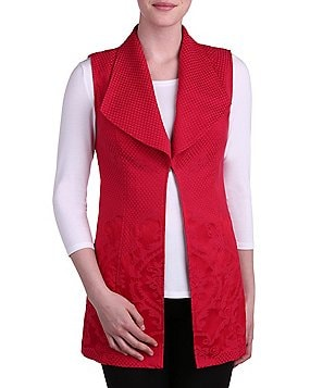 Peter Nygard Wide Lapel Mid Length Vest