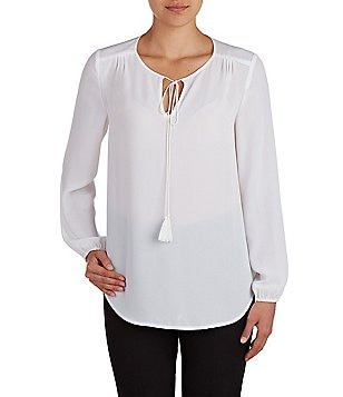 Peter Nygard Long Sleeve Peasant Shirt