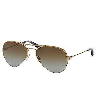Tory Burch Tory T Polarized Aviator Sunglasses