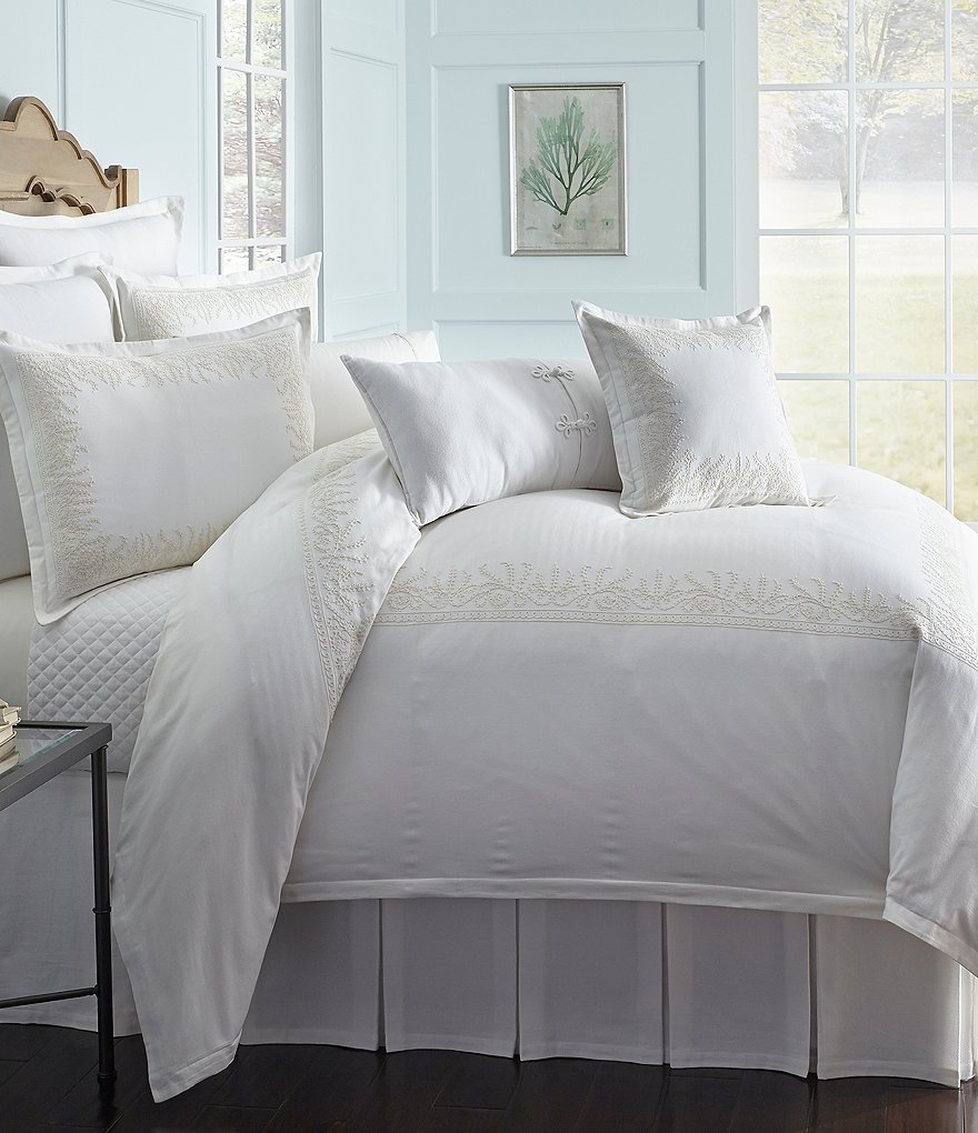 Southern Living Edgewood Scroll-Embroidered Duvet Mini Set
