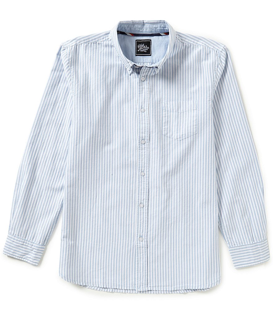 J.A.C.H.S. Manufacturing Co. Striped Oxford Shirt