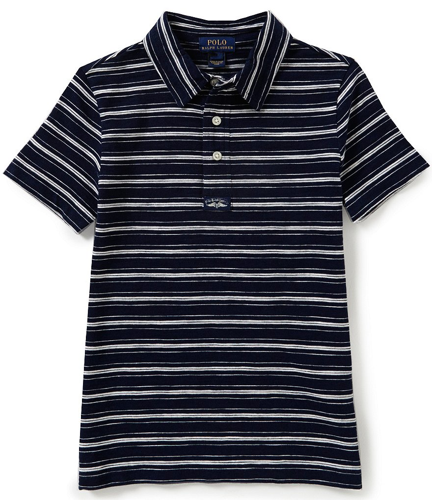 Ralph Lauren Childrenswear Little Boys 5-7 Striped Jersey Polo Shirt