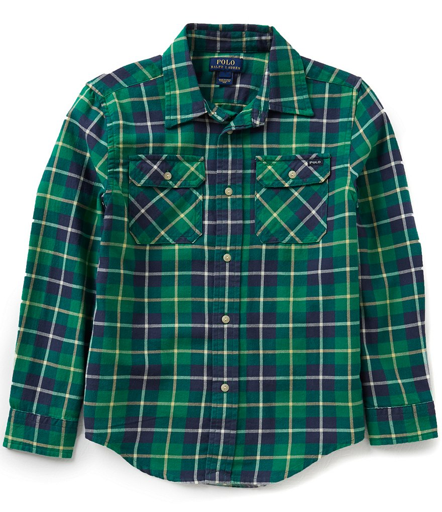 Ralph Lauren Childrenswear Little Boys 5-7 Plaid Work Shirt