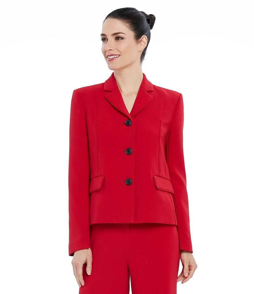 Ellen Tracy Double-Weave Stretch Crepe Jacket