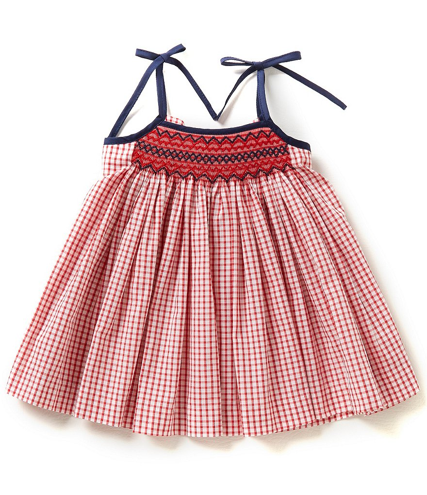 Edgehill Collection Baby Girls 3-24 Months Check Smocked Dress