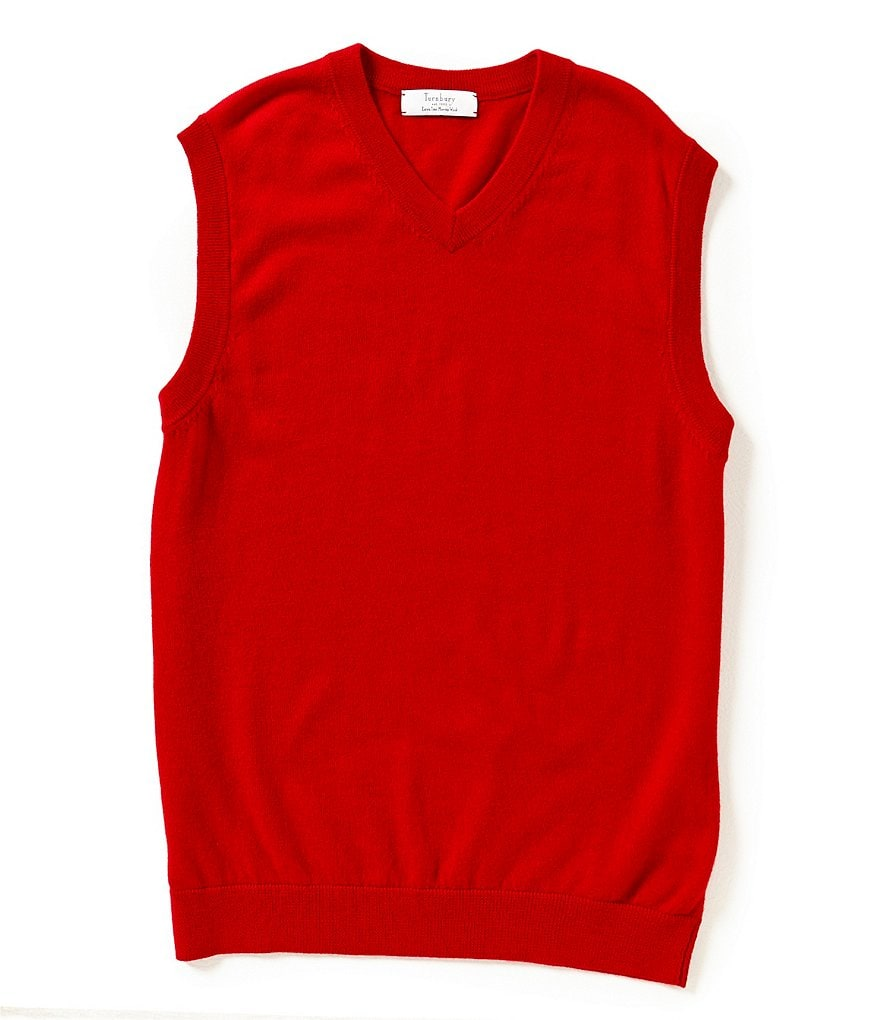 Turnbury Merino Wool V-Neck Sweater Vest