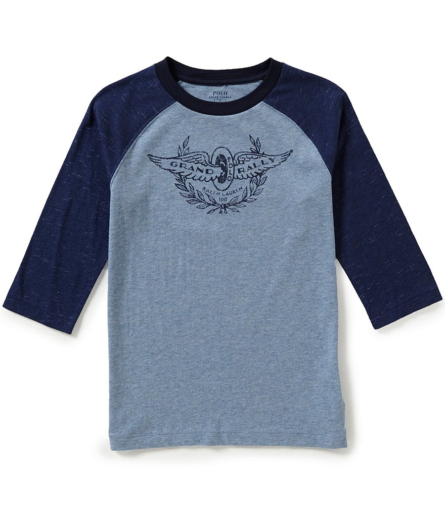 Ralph Lauren Childrenswear Little Boys 5-7 Racecar Baseball Tee