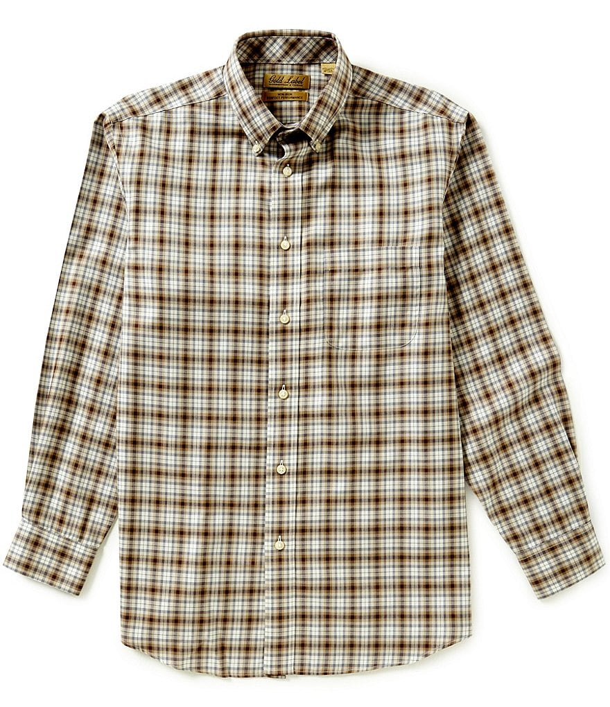 Gold Label Roundtree & Yorke Non-Iron Plaid Sportshirt