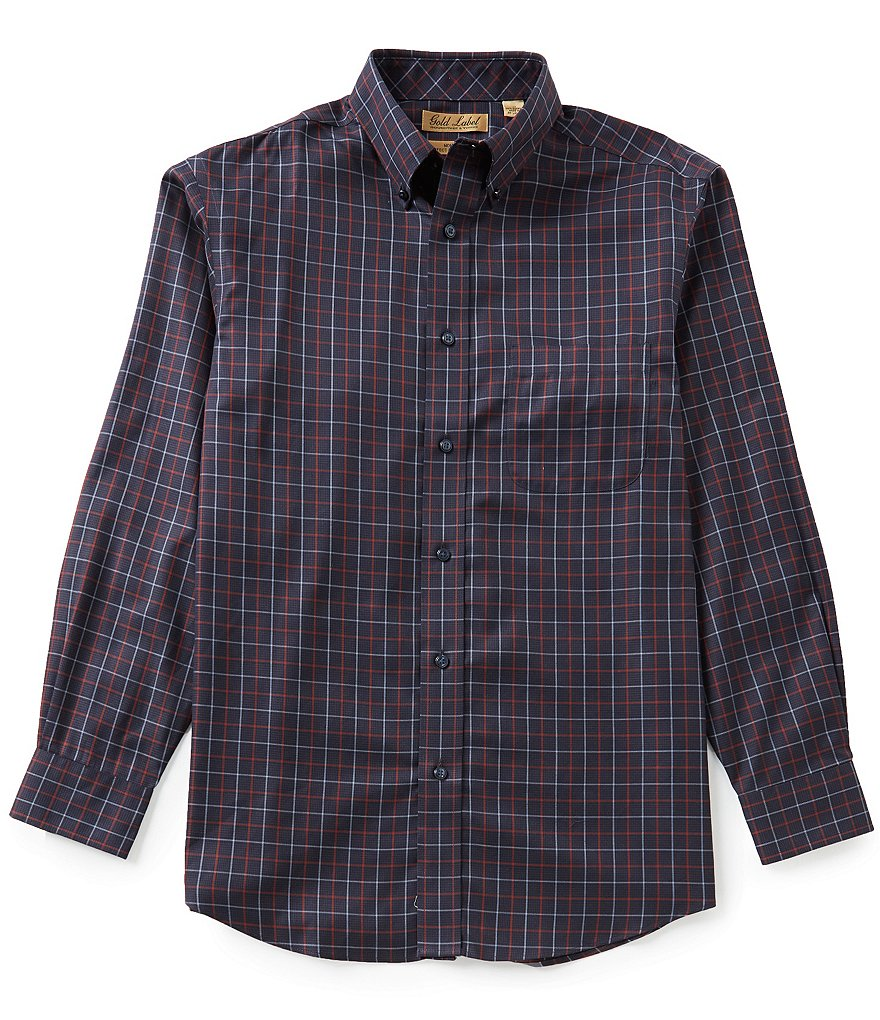 Gold Label Roundtree & Yorke Non-Iron Plaid Suiting Sportshirt