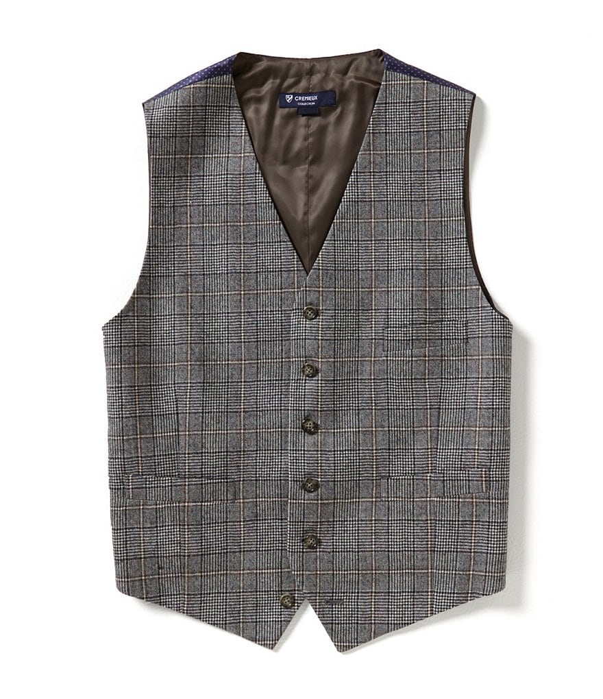 Cremieux Highland Peaks Collection Edward Tailored-Fit Plaid Vest