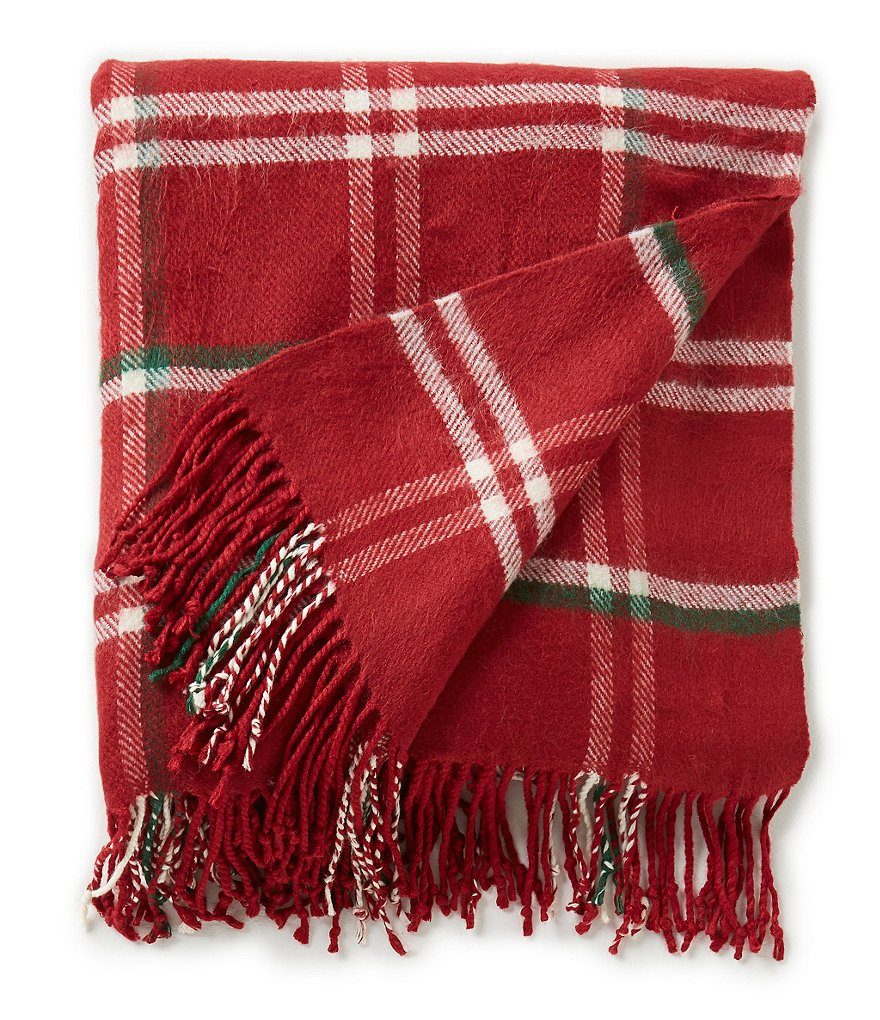 Noble Excellence Zachary Plaid Fringed Throw