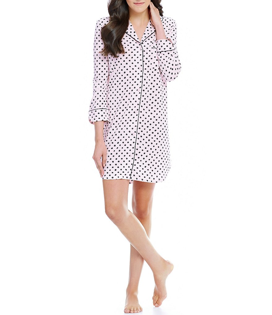 kate spade new york Dotted Jersey Sleepshirt