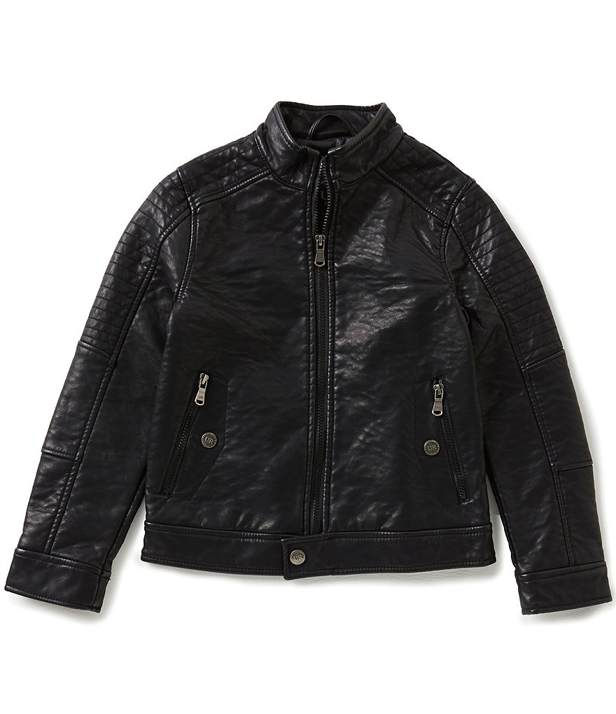 Urban Republic 8-20 Big Boys Faux-Leather Moto Jacket