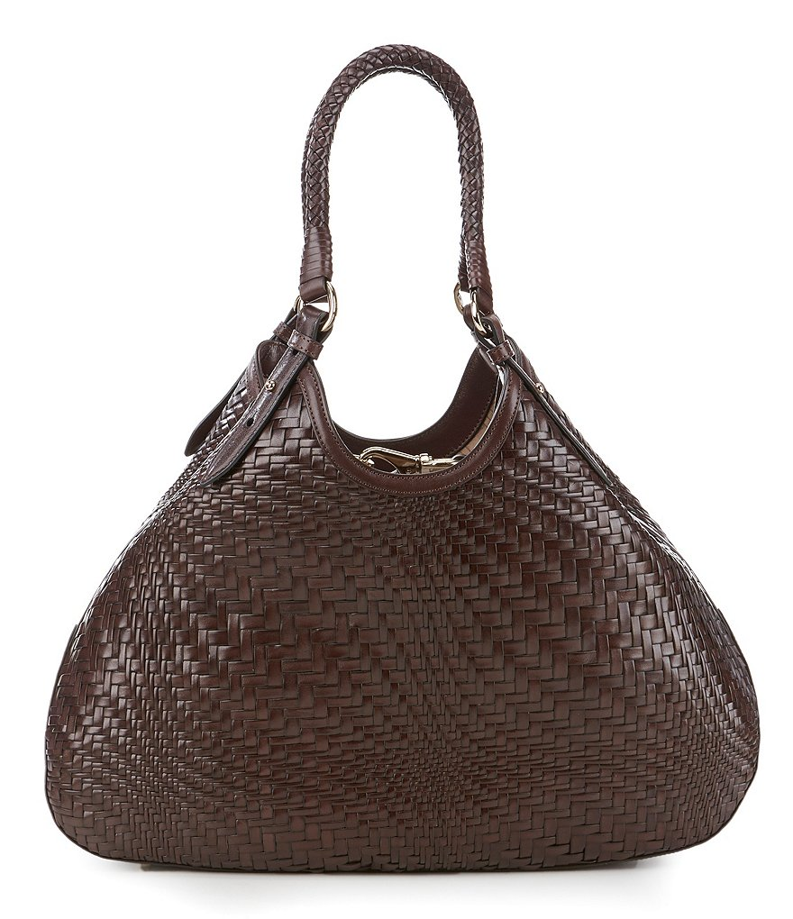 Cole Haan Genevieve Woven Triangle Tote