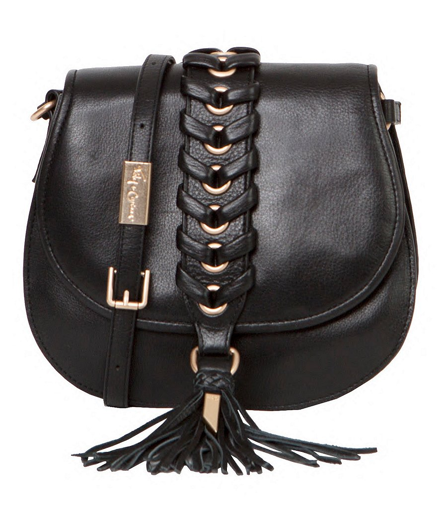 Foley & Corinna La Trenza Tasseled Whip-Stitched Saddle Bag