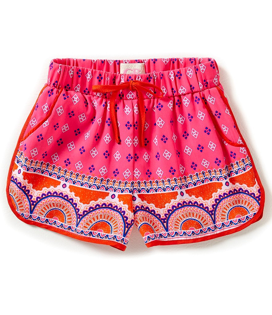 GB Girls Big Girls 7-16 Border Print Shorts