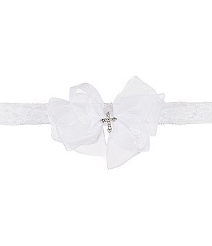 Elegant Baby Girls Christening Lace Headband