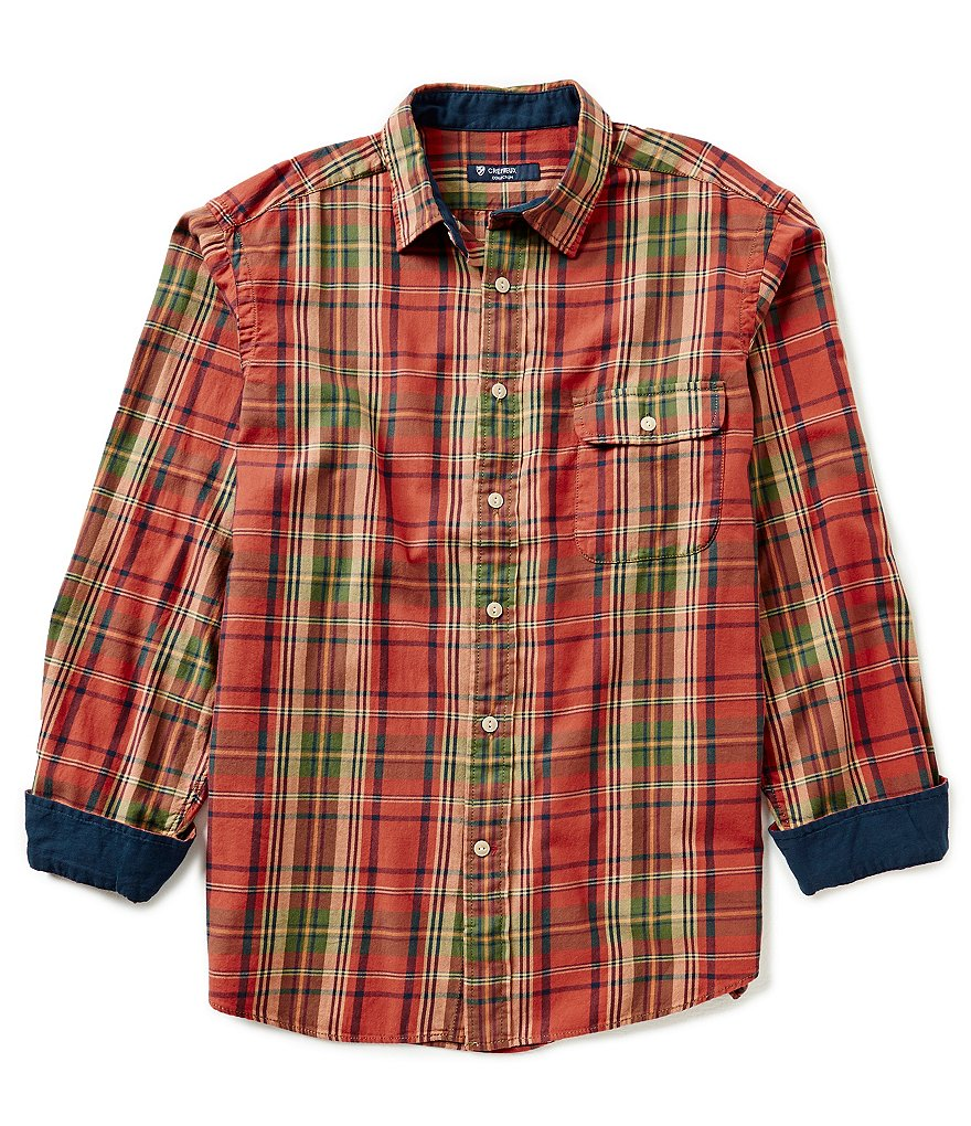 Cremieux Long-Sleeve Plaid Flannel Woven Shirt