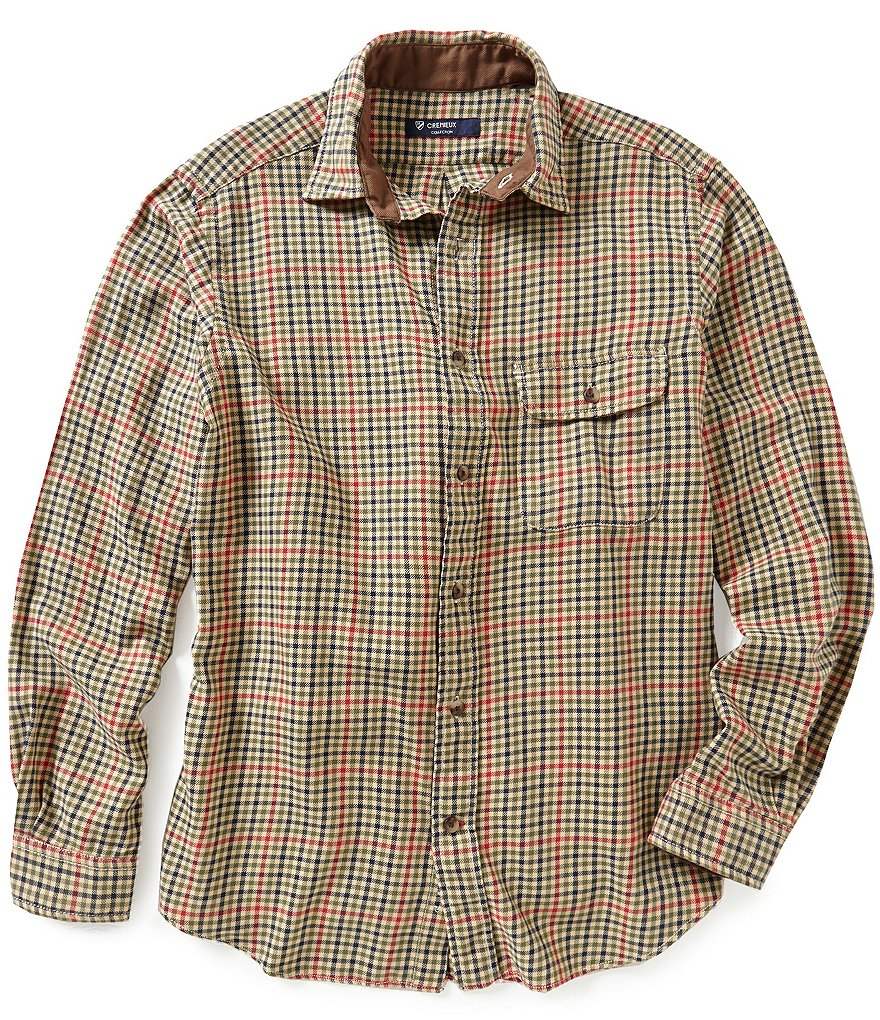 Cremieux Highland Peaks Collection Elbow Patch Check Woven Shirt
