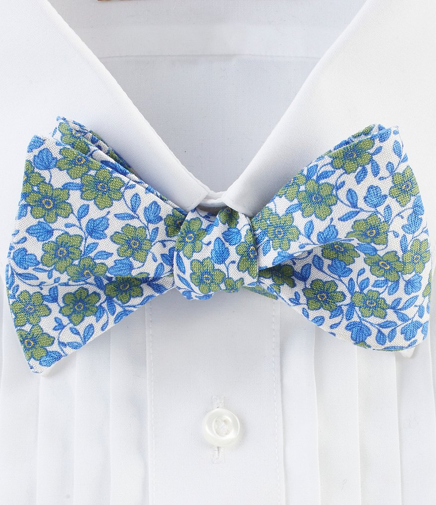 Ted Baker London Floral Linen Bow Tie